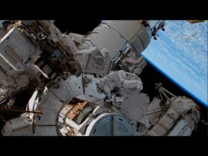NASA astronauts conduct spacewalk