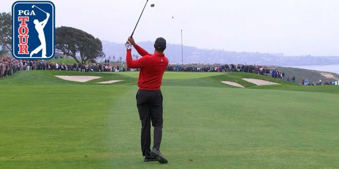 Tiger Woods' would-be eagle hole out bounces out of cup at Farmers 2020