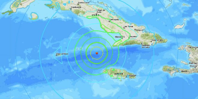 Powerful 7.7 magnitude earthquake strikes between Cuba and Jamaica