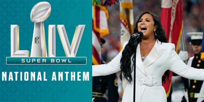 Demi Lovato Sings the National Anthem   Super Bowl LIV Pregame