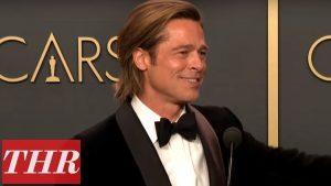 Oscar Winner Brad Pitt Full Press Room Speech | THR