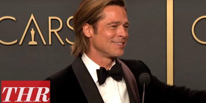 Oscar Winner Brad Pitt Full Press Room Speech   THR
