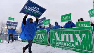 Klobuchar draws crowds in New Hampshire as she hopes for a surge in Tuesday's primary