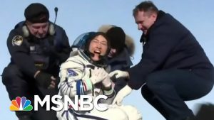 Astronaut Christina Koch's Dog Welcomes Her Home After A Year In Space   The 11th Hour   MSNBC
