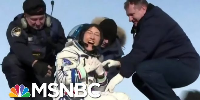 Astronaut Christina Koch's Dog Welcomes Her Home After A Year In Space | The 11th Hour | MSNBC