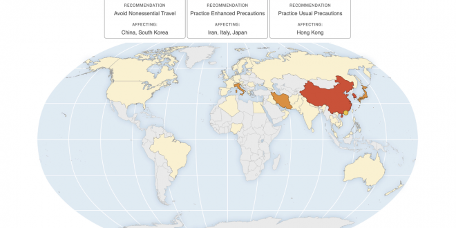 Coronavirus Travel Advisories: Map Shows CDC's Areas Of Concern : Goats and Soda