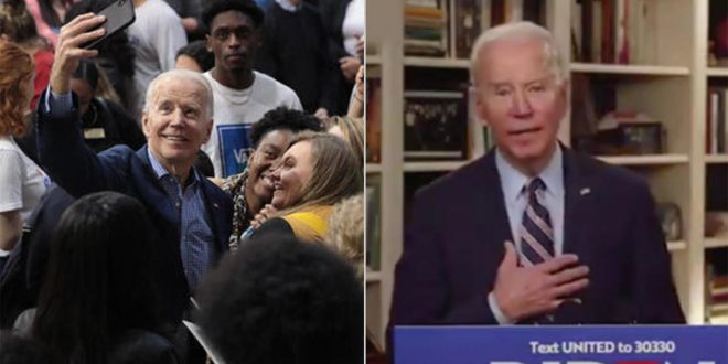 Stay-at-home candidate: Joe Biden competes with White House on message