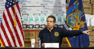 New York Governor Andrew Cuomo holds a press conference amid coronavirus pandemic