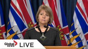 Coronavirus outbreak: B.C. public health official to provide update on COVID-19 crisis | LIVE