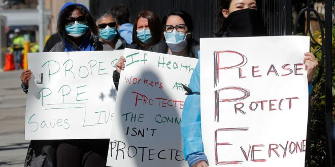U.S. court dismisses New York nurses' plea for COVID-19 protection