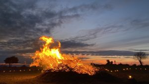 Bealtaine fire lit as a symbol of hope in Co Westmeath