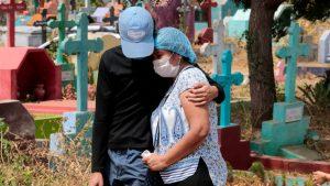 Coronavirus latest: US sees decline in positive tests as key global metric eases