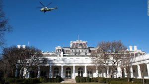 Social distancing in the White House's West Wing is near-impossible