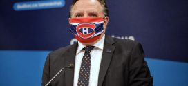 Quebec Premier wears Canadiens face mask sent to him by Weber