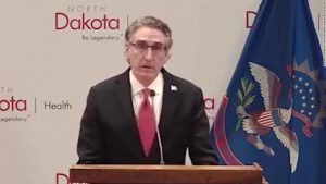 Governor fights back tears at briefing discussing masks