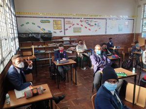 Covid-19: Joburg primary school use hula hoops to help pupils maintain physical distancing | News24