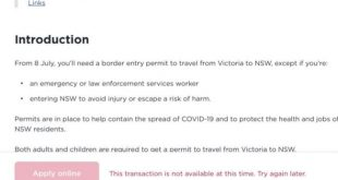 Coronavirus Australia live updates: NSW border permit site 'crashing'