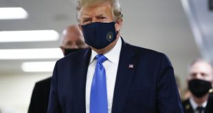 Trump wears mask in public for 1st time in COVID-19 pandemic